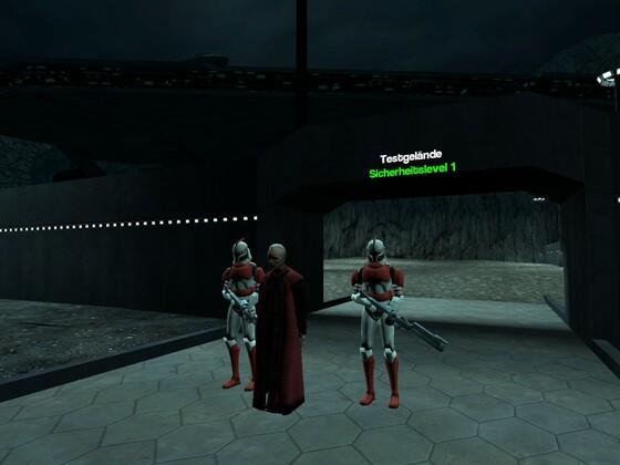 Kanzler Palpatine Besucht die Rishi Mond Basis